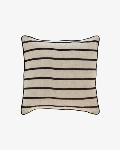 Sagira black stripes cushion cover 45 x 45 cm
