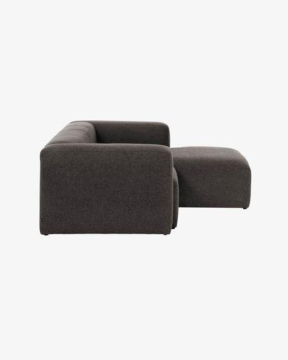 Sofa 2-osobowa Blok z szezlongiem z prawej strony w kolorze szarym 240 cm