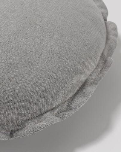 Funda cojín Maelina Ø 45 cm gris