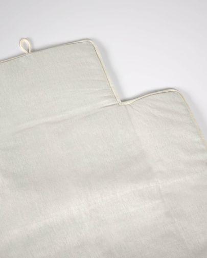 Muda-fraldas de viagem Jeila 100% algodão (GOTS) bege