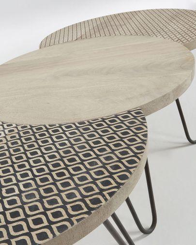 Set van 3 Houp tafels 134 x 39,5 cm
