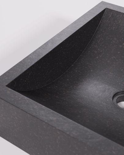 Lavabo encimera Kuveni de terrazo negro 40 x 45 cm