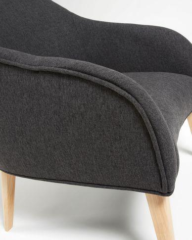 Graphite Bobly armchair