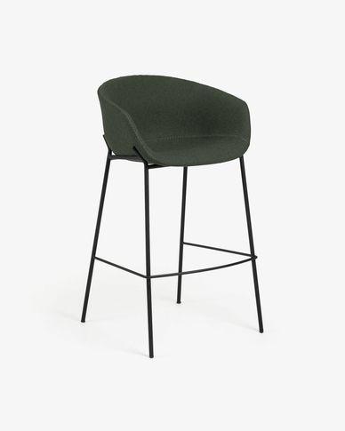 Tabouret de bar Yvette vert hauteur 74 cm