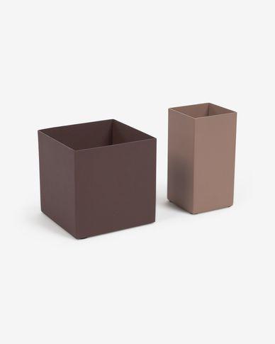 Pennenhouder Cornella set van 2 in veelkleurig metaal