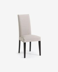 Freda chair beige and black
