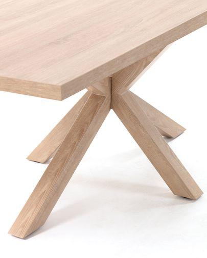 Argo tafel 180 cm natuurlijke melamine hout effect benen