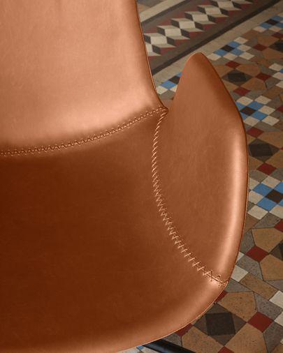 Silla de escritorio Yolanda piel marrón