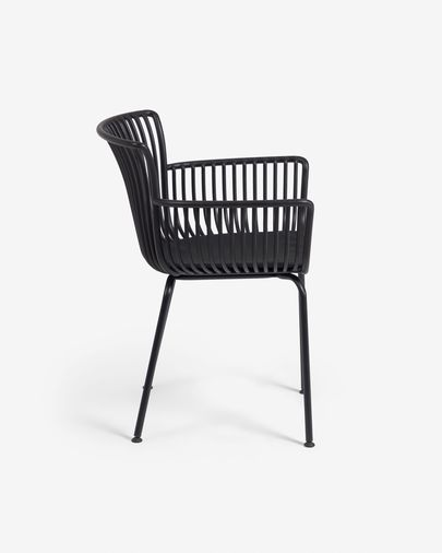 Surpika garden chair in black