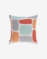 Calantina multicoloured cushion cover with squares 45 x 45 cm