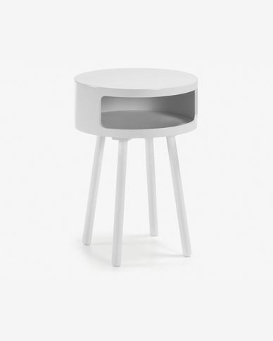 Table d'appoint Kurb B Ø 40 cm blanc FSC MIX Credit