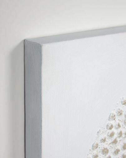 Płótno Adys z kółkiem i kropkami białe 40 x 40 cm
