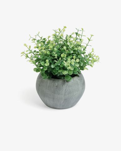 Eucaliptus artificial plant in grey pot