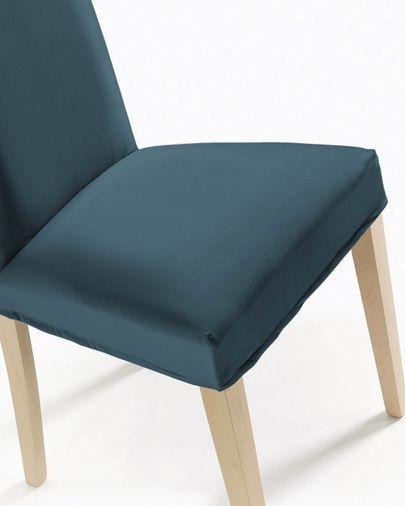 Freda chair cover velvet turquoise