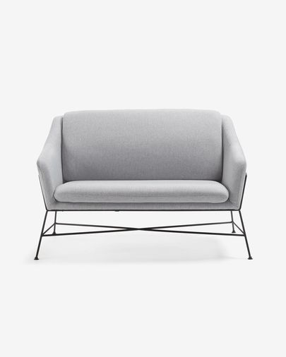 Grey Brida sofa 128 cm