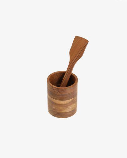 Espàtula de cuina Yanila de fusta massissa d'acàcia