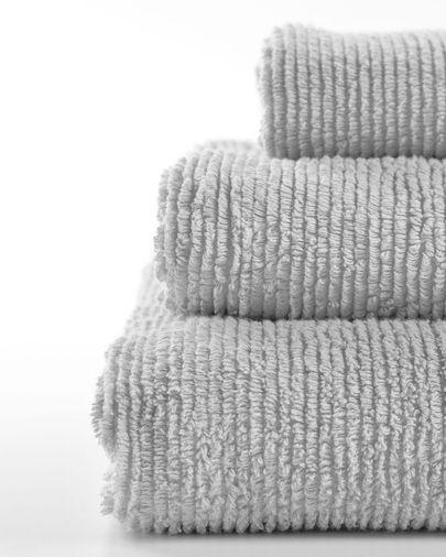 Toalla de baño Miekki pequeña gris claro