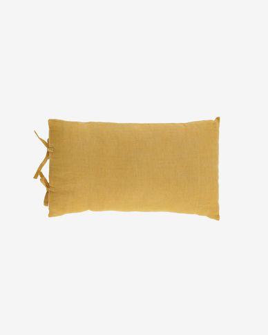 Funda cojín Tazu 100% lino mostaza 30 x 50 cm