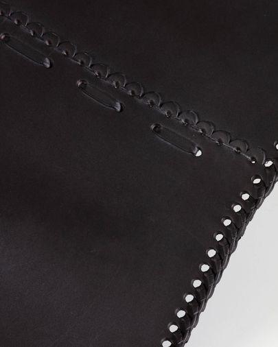 Fauteuil Fly cuir noir