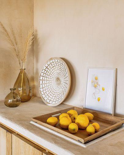 Tableau Leyla sac avec citrons 30 x 40 cm
