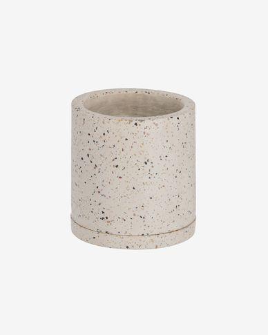 Test Lelis amb plat terratzo blanc Ø 26 cm