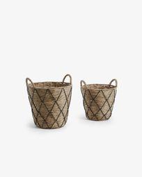 Set Mast de 2 cestas negro