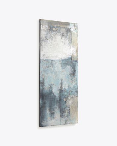 Urbelina Leinwand weiß und blau 50 x 120 cm