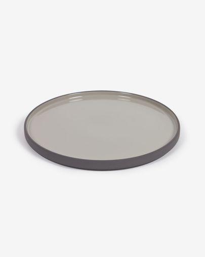 Thianela porcelain dinner plate in grey