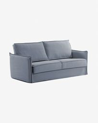 Slaapbank Samsa 160 cm polyurethaan blauw