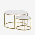Tables d'appoint blanches
