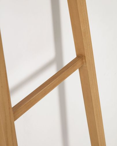 Uliana solid teak towel rail with natural finish 50 x 160 cm