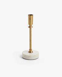 Llaksa Kerzenständer 20 cm, Marmor, weiss