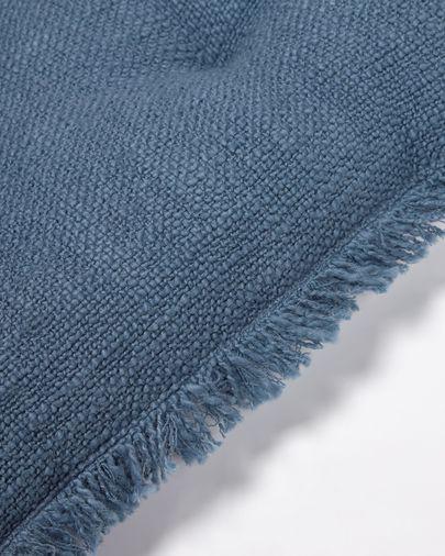 Brunela 100% katoen blauw stoelkussen 45 x 45 cm