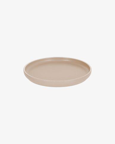 Assiette à dessert Shun en porcelaine beige