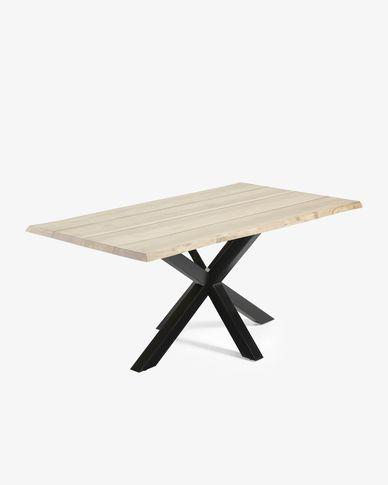 Argo table 160 cm bleached oak black legs