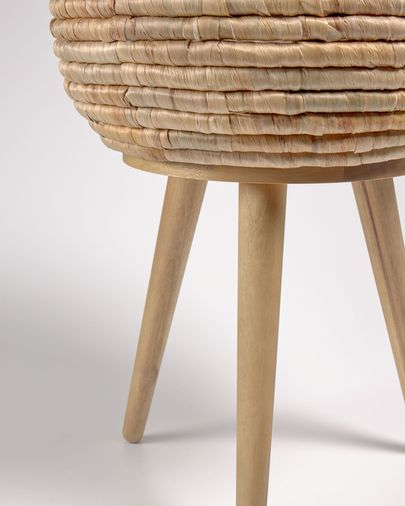 Colomba planter made from natural fibres, 34 cm