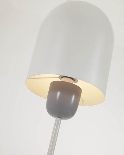 Lámpara de pie Brittany de metal con acabado pintado blanco y gris