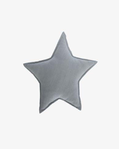 Noor blauwe ster 100% katoenen kussen 44 x 30 cm
