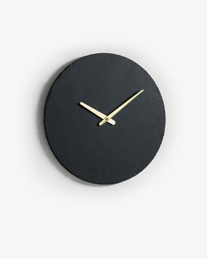 Rellotge de paret Wenig Ø 40 cm pissarra