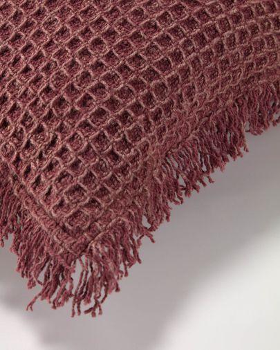 Shallow maroon cushion cover 45 x 45 cm