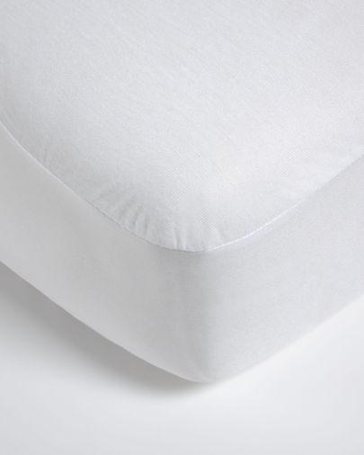 Housse matelas Jasleen 100% coton 90 x 190 cm