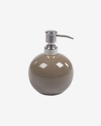 Berdolina brown ceramic soap dispenser