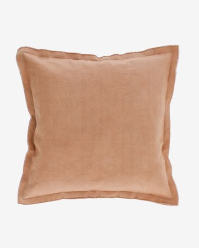 Achebe 100% cotton cushion cover in brown 60 x 60 cm