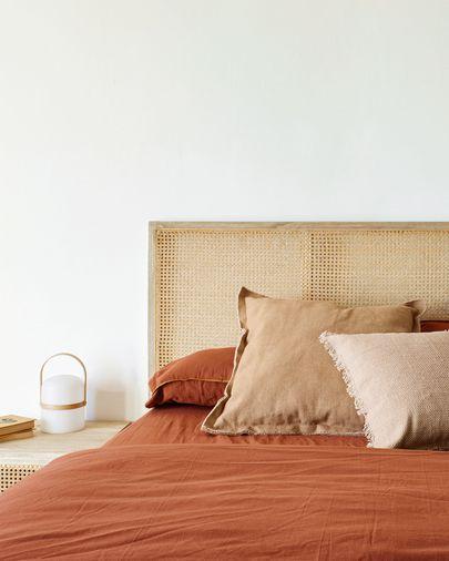 Set Ibelis de lençol, capa edredão e capa almofada 150x190cm algodão orgânico (GOTS) grená