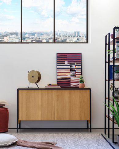 Oak wood Nadyria sideboard 140 x 82 cm