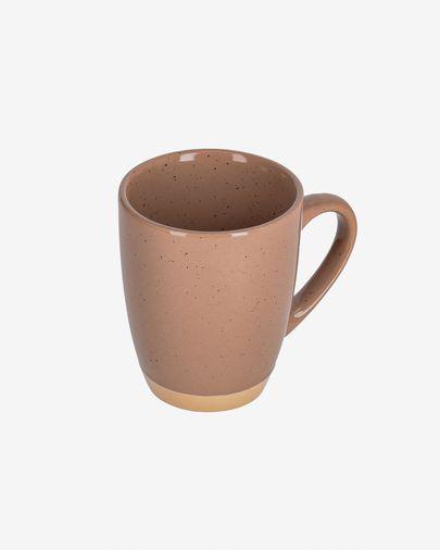 Taza Tilia cerámica color marrón claro