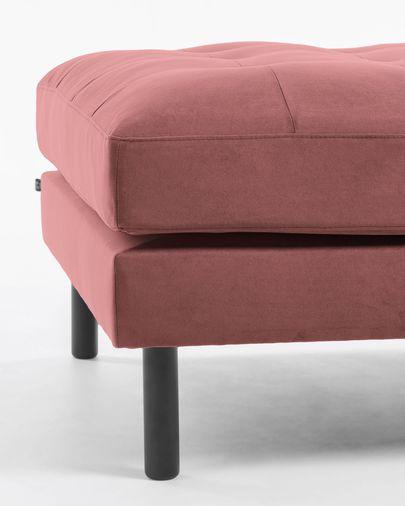 Pink velvet Debra footstool 80 x 80 cm