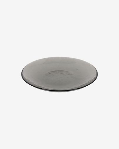 Plat per a postres Syna de vidre gris