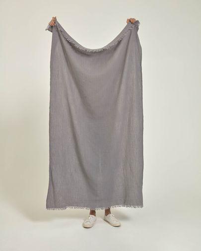 Manta Clarice 100% cotó gris 70 x 100 cm