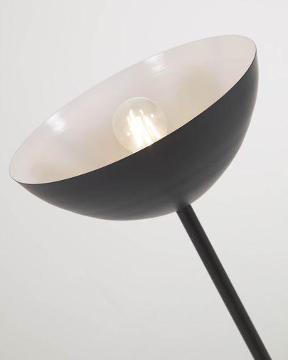 Eglantina metal floor lamp with black painted finish
